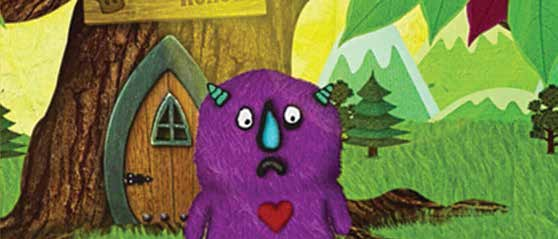 Morten the Monster in The Big Tree app