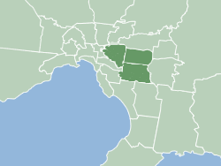 Distribution area of the Burwood Bulletin