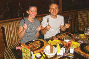 My hosts Denis and Dasha