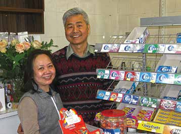 Thuy and Long in their Surrey Hills milkshop