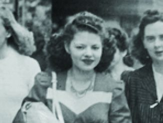 Iris (middle), purchases in hand, ca 1940