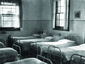 A section of the Kiel wing dormitory (the end bed by the window was Vern's while he was at the Home);
